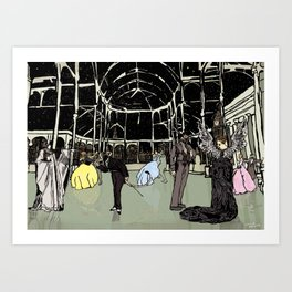 News Years Eve in London Art Print