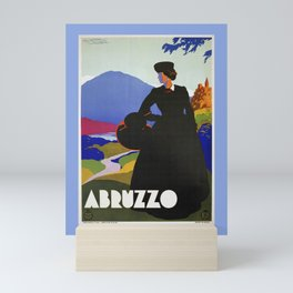 Abruzzo Italian travel Lady on a walk Mini Art Print
