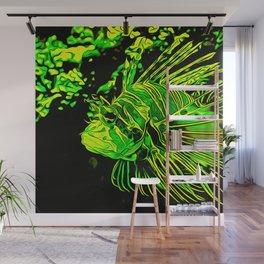 lionfish vector art green Wall Mural