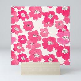 Camellia Flowers in Pink Mini Art Print