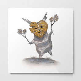 Little friend out of the woods Metal Print