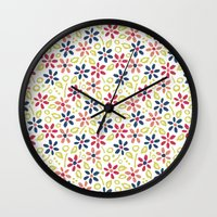 matisse Wall Clocks featuring Matisse Floral by Rosie Simons