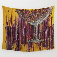 wine Wall Tapestries featuring :: Afternoon Wine :: by :: GaleStorm Artworks ::