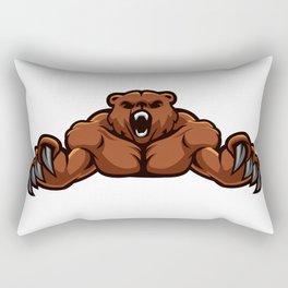 angry, ape, beast, cartoon gorilla, cartoon, gorilla, gorilla cartoon, gorilla strong, king, kong, Rectangular Pillow