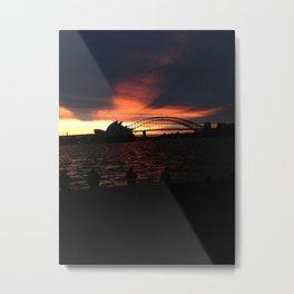 Sunset in Sydney Metal Print