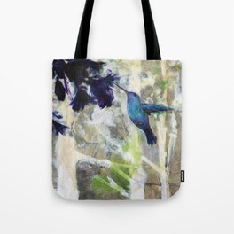 Hummingbird Haze Tote Bag