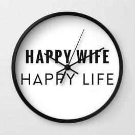 Happy Wife Wall Clock