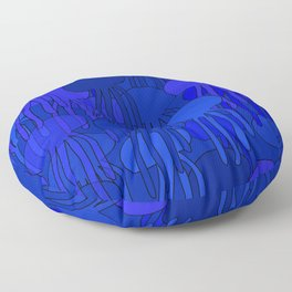 Jellyfish Blue Floor Pillow