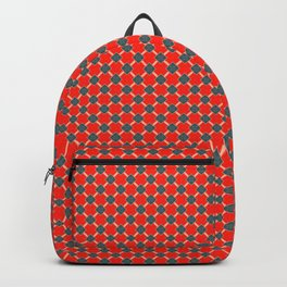 Red & Blue (II) and light peach Backpack