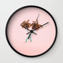 golden palms Wall Clock