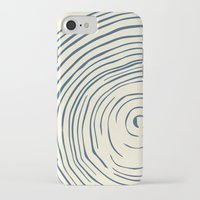 tree rings iPhone & iPod Cases featuring Tree Rings by Chase