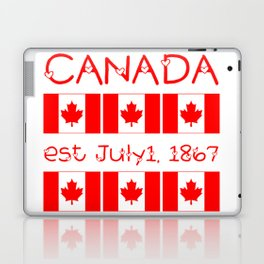 Canada Day Maple Leaf Pattern Canadian Flag Laptop & iPad Skin