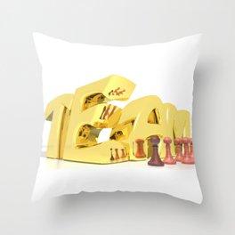 Team Gold Throw Pillow