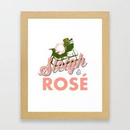 sleigh and rose Framed Art Print