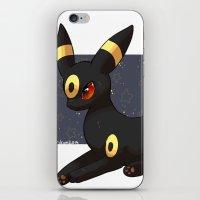 umbreon iPhone & iPod Skins featuring Umbreon by Mirikun