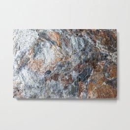 Slate Iron Rock Pattern (Norway) Metal Print
