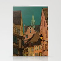 jazzberry Stationery Cards featuring Evening by Megs stuff...