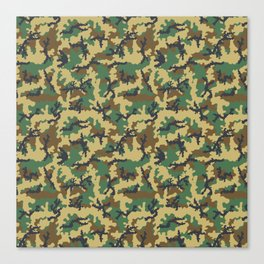 Woodland camouflage Canvas Print