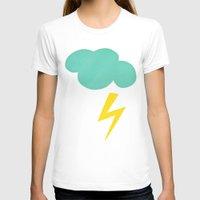 lightning T-shirts featuring Lightning Strike by Cassia Beck