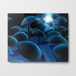 glowy mushrooms Metal Print