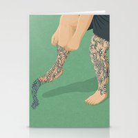 tattoos Stationery Cards featuring Tattoos by John Holcroft