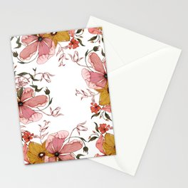 Words that water flowers Stationery Cards