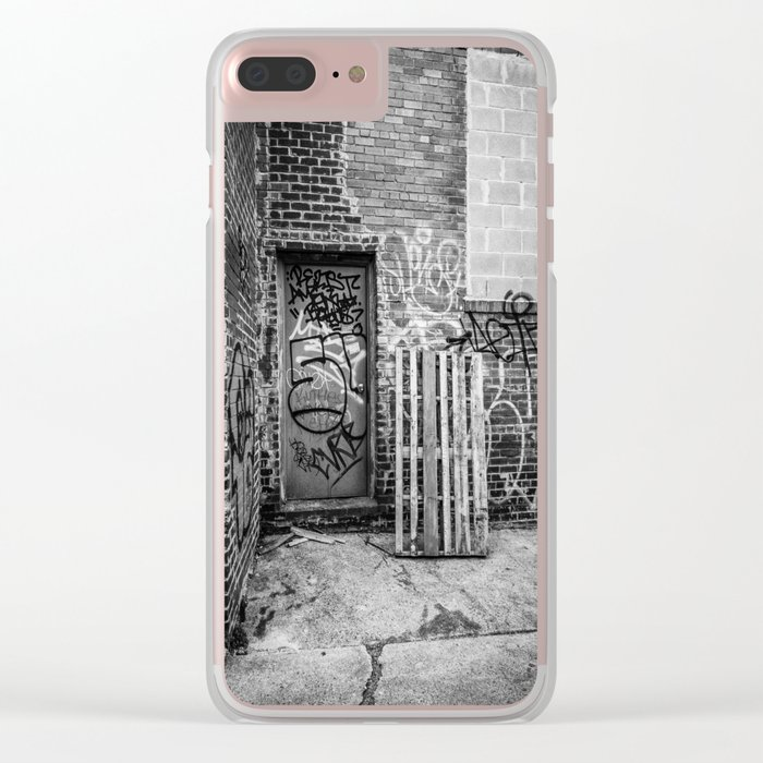 Exit to the Streets Clear iPhone Case