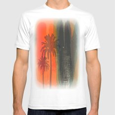 Untitled Digital Abstract MEDIUM White Mens Fitted Tee