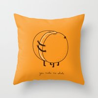 Throw Pillows featuring My better half by AGRIMONY // Aaron Thong
