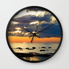 Textures Clouds over the Sea Wall Clock
