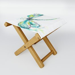 Watercolor Dragonfly Folding Stool