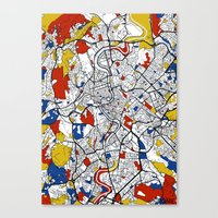 rome Canvas Prints featuring Rome by Mondrian Maps