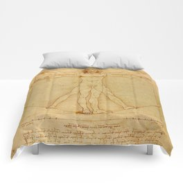 Leonardo da Vinci, Vitruvian Man Comforters
