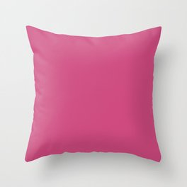 Pink Yarrow | Pantone Fashion Color Spring : Summer 2017 | Solid Color | Throw Pillow