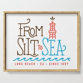 From Silt to Sea | Long Beach California Tribute | From Oil Workers to Surfers Serving Tray