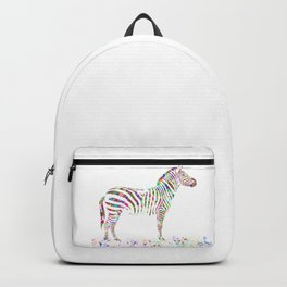 Colorful Zebra Backpack