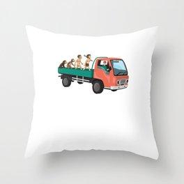Evolution Truck Driver Cool Truck Driver Gift Throw Pillow