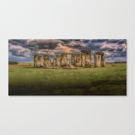 Stonehenge Panoramic Landscape Canvas Print
