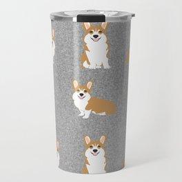 Corgis - Cute corgi, dog pet, corgi decor, corgi pillow, corgi bedding, corgi pattern, cute corgi Travel Mug