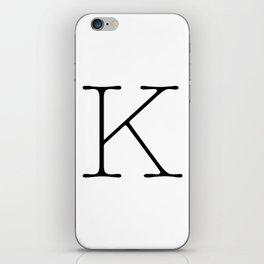 Letter K Typewriting iPhone Skin