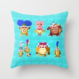 Koopalings! Throw Pillow