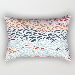 Seaside Sunset - Abstract Rectangular Pillow