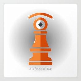 pawn's eye Art Print