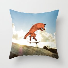 Skateboard FOX! Throw Pillow