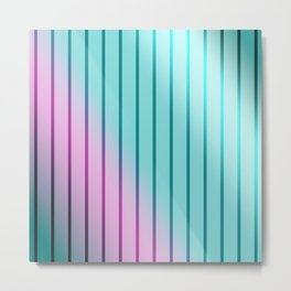 Rainbow . Striped rainbow pattern . Metal Print