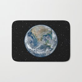 EARTH FROM SPACE Bath Mat