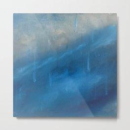 Blue Rain Metal Print