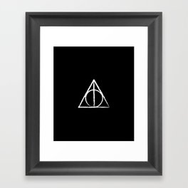 The Sign of the Deathly Hallows Framed Art Print