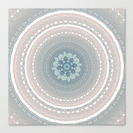 Decorative Delicate Mint Pastel Mandala Canvas Print