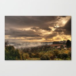 Valley Of Fog Canvas Print